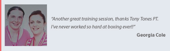 Testimonial 3 for Tony Tones Personal Training - mobile personal trainer in the Cramlington Northumberland & North Tyneside Area